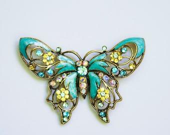 Aqua Butterfly Pin Magnet