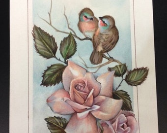 Roses and birds