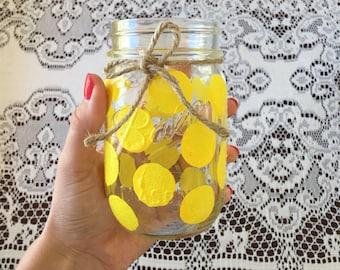 Yellow Polkadot Drinking Glass