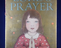 Vintage 1960s Childrens Prayer Book The Lord's Prayer Hardcover Ingri & Edgar Parin D'Aulaire Illustrations