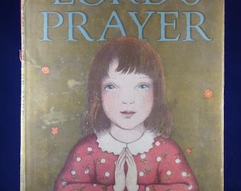 Vintage 1960s Childrens Prayer Book The Lord's Prayer Hardcover Ingri & Edgar Parin D'Aulaire Illustrations