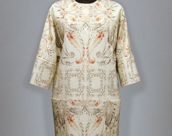 Vanilla summer coat with print