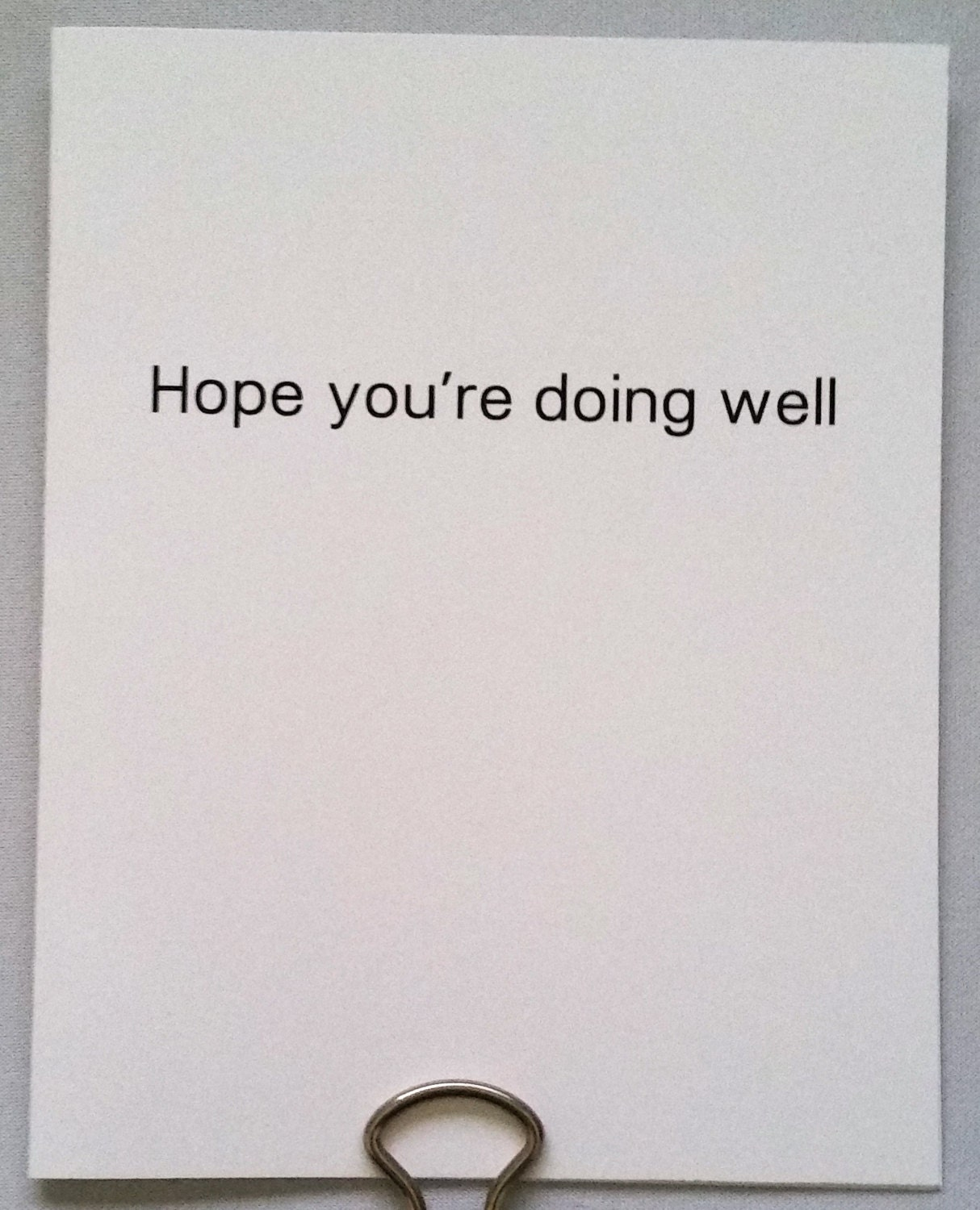 Hope Youre Doing Well Hello Card By HateMailCards On Etsy