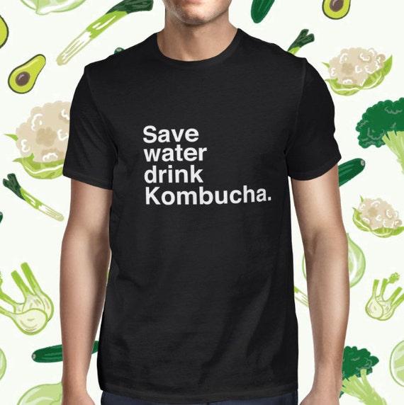 Funny Kombucha Drink T-shirt for Men - Men's Pun T Shirt - Statement Vegan Shirt - Vegetarian Tee for Men - Kombucha T-shirt - Plant-based