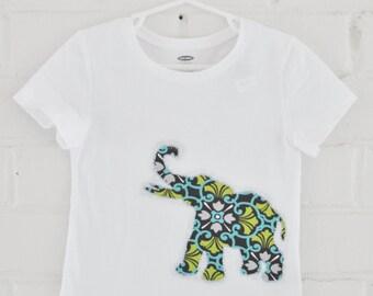 Elephant Damask Custom Embroidered Tee