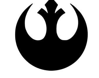 Star Wars Rebel Decal - Rebel Decal - Star Wars Decal - Disney Decal - Car Decal - Bumper Sticker