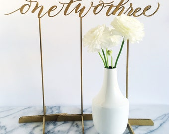 Set of 5 Freestanding Table Numbers