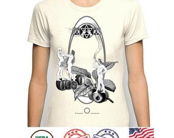 Jew Jewish Tshirt, Fantasy Tee, Apples fruits t-shirt, Pomegranate Tee, Religious Rosh Hashana Art, Art Nouveau t shirt, Shofar player top