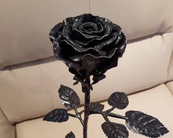 Hand-forged rose - blacksmith made - unique item