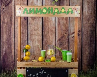 Lemonade stand Stand Cakes Photography prop stand Kissing booth Market stand