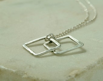 Allium *  Sterling Silver Hand Wrought and Forged Geometric Artisan Pendant