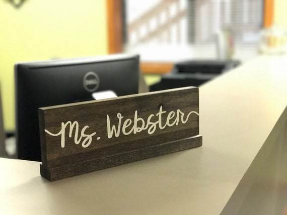 Personalized Desk Name Plate  Teacher Desk Sign By. Small Trestle Table. Pictures Of Antique Secretary Desks. Entry Table Decor. Parsons Desk Chair. Gaming Desk Black. Stainless Steel Desk Lamp. Pier Table. Computer Desk And Chair