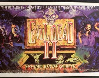 Evil Dead II Reproduction 12'x18' Retro Movie Poster //