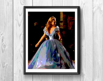 Cinderella with her beautiful dress for dance.Transformed from fair in a princess