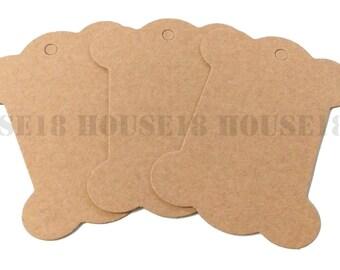 Kraft Cardboard Kraft Paperboard Spool Bobbin Ribbon Organizer Lace Organizer 50 PCS | Blank