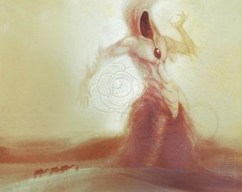 Nyarlathotep | H.P. Lovecraft | Poster Print | Dark Horror Portrait | Desert Art Print