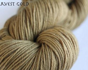 Superwash DK Yarn, Harvest Gold CLEARANCE