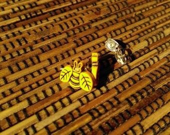 Buzzy Bee Earrings, bumblebee earrings, cute bees, tiny bee stud, bee jewellery, honey bees, bee accessories, save the bees, handmade