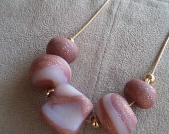 Rose Quartz Marbled Necklace