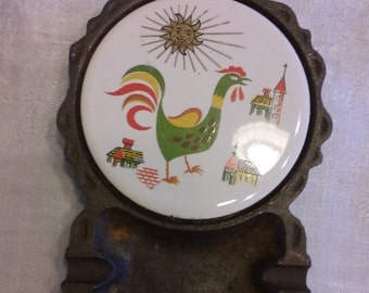 Vintage Country Rooster Ashtray