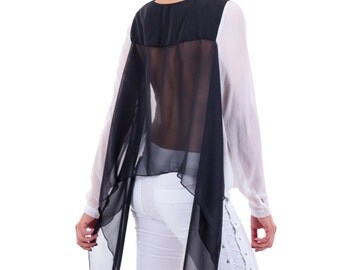 White tunic with black back