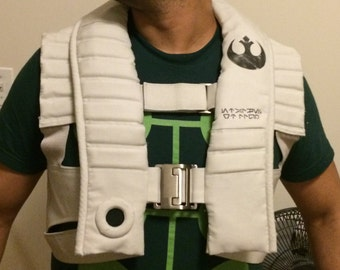 Star Wars The Force Awakens, Star Wars X-Wing Pilot Costume, Poe Dameron vest, Rebel pilot vest, X-wing fighter vest, Poe Dameron cosplay