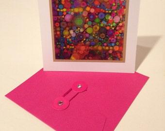 Percolating Dots: iPad Blank Card and Pink Envelope