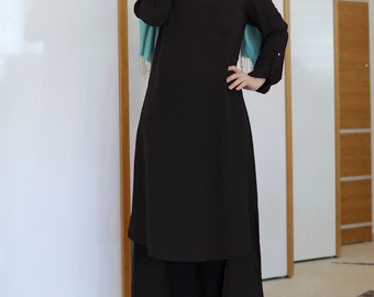 Maxi Black Blouse