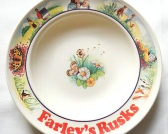 Sweet Vintage 'Farley's Rusks' Melamine Bowl