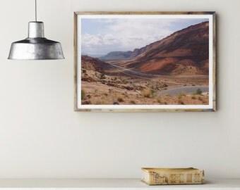 Desert Art, Moab Utah, Red Rock, Mountain Print, Desert Landscape , Utah Photo