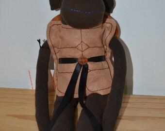 Ninja Turtle Sock Monkey (Leonardo)