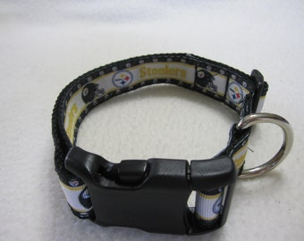 Pittsburgh Steelers Dog Collar ( med )