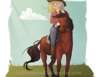 Cowgirl on the Range fine art print