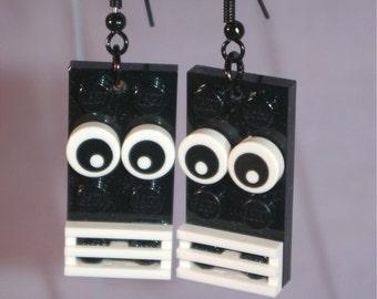 LEGO Monster Earrings in Black
