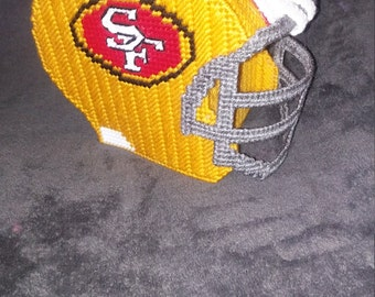 San Francisco 49ers helmet tissue box cover