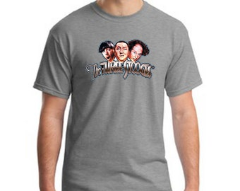 Funny Three Stooges Larry Moe Curley Wise Guys Mens Cotton T Shirt Sizes Small-4XL Short  Sleeve