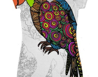 Ladies V-Neck Dress T