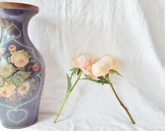 Vintage Large Boho Floral Vase