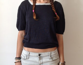 Vintage A.P.C. light sweater short sleeves