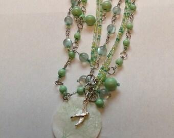Free Bird Bead Necklace