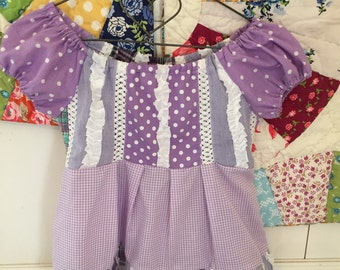 Beautiful patchwork toddler dress (3T) {made with love by emma}