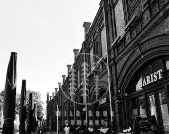 Berlin Street, Black And White Photography - Wallpaper,Wall Art - Print Photo,Fine Art Print,Postcard,Poster,Image,DIN A4 - city travel
