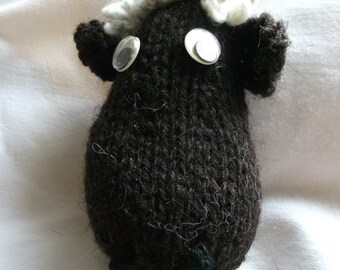 Handmade in Wales pure woolsheeps head pin brooches