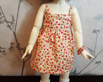 Cream and Pink Floral Littlefee Summer Dress
