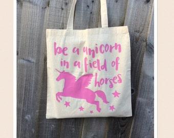 Unicorn Quote Tote Bag