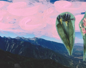Floral Mount Olympus Collage (Print)