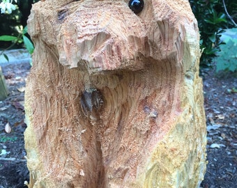 Bear Chainsaw Wood Sculpture - Custom