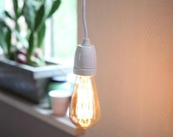 Ex-hand lamp white ceramic (with bulb)