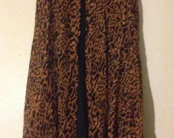 Women's leopard print skirt