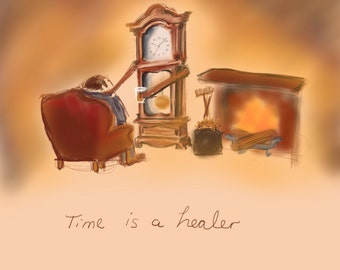 Time is a healer - print